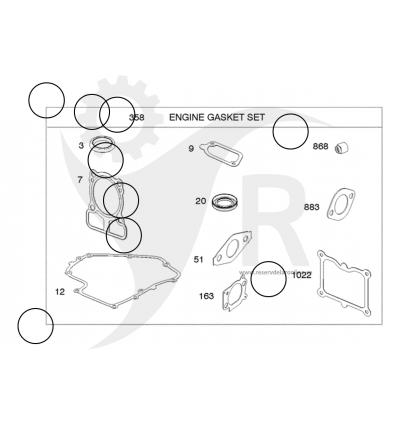BRIGGS & STRATTON Packningssats motor 793623 - 1